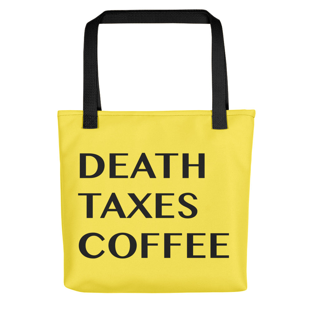 Death Taxes Coffee Tote