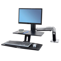 Ergotron Workfit-A with Suspended Keyboard, Single LD