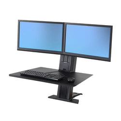 Ergotron Workfit-SR Dual Monitor, Sit-Stand Desktop Mount