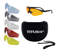 Titus Professional Multi-Lens Range Set, Eye Protection & Vision Enhancing Safety Glasses,