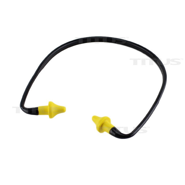 Titus U-Band - Over Ear Reusable Banded Ear Plugs - Yellow & Black
