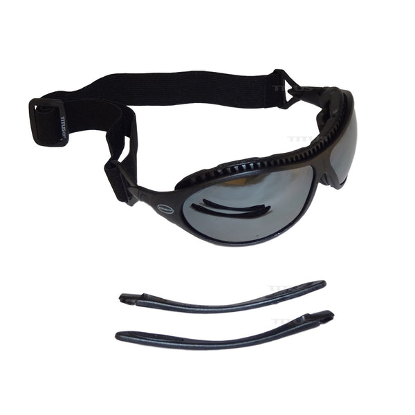 Titus G9, Interchangeable Padded Sport Goggles, Convert to Glasses / Mirrored Bronze Lenses Z87 Rated With Mask Option