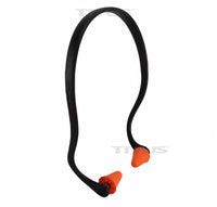 Titus Contoured U-Band - Over Ear Reuseable Banded Ear Plugs - Orange & Black