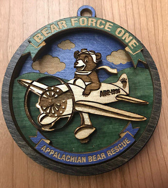 Bear Force One Ornament