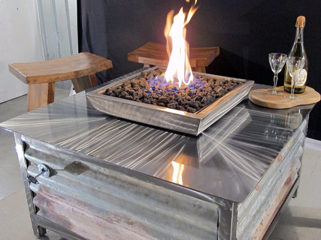 Impact Fire Table Stainless Steel Outdoor Gas Fire Pits Made In Usa