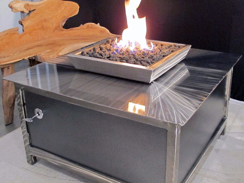 Impact Fire Table Stainless Steel Outdoor Gas Fire Pit Made In Usa