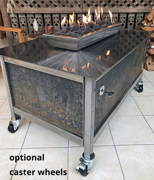 Accessory:  Caster Wheels - IMPACT fire tables modern. industrial. design.