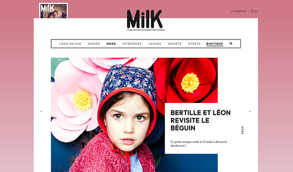 Milk Magazine Bertille&Léon