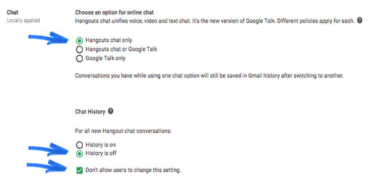 New Hangouts settings and password recovery updates hit