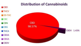 distribution of cannabinoids