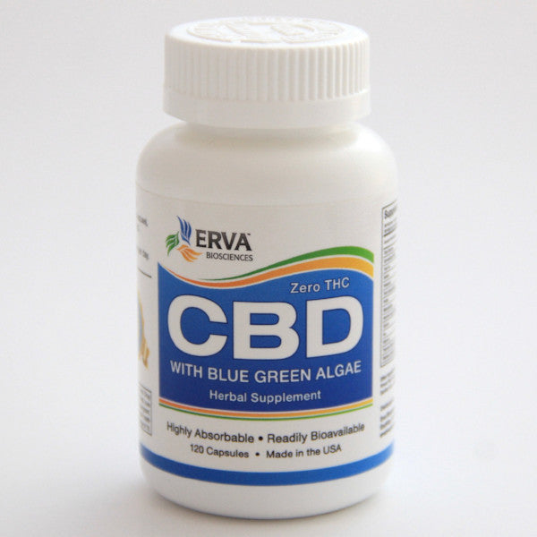 Erva Bioscience Zero THC Highly Bioavailable Cannabidiol (CBD) blended with Wild Harvested Blue Green Algae