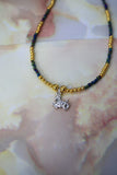 Capricorn Necklace (Rainbow Black / Gold)