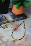 Virgo Necklace (Rainbow Black / Gold)