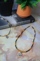 Cancer Necklace (Rainbow Black / Gold)