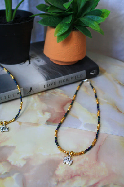 Aries Necklace (Rainbow Black / Gold)
