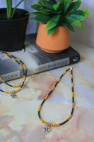 Libra Necklace (Rainbow Black / Gold)