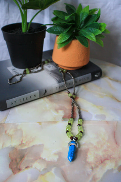 Zaida Necklace (Blue Howlite)