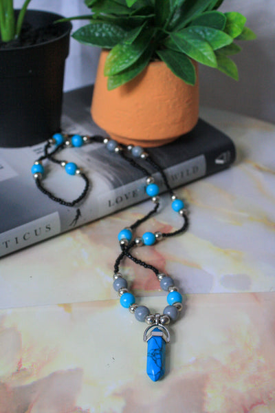 Lady Necklace (Blue Howlite)
