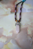 Maarit Necklace (Rose Quartz)