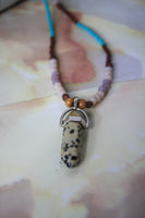 Sable Necklace (Dalmatian Stone)