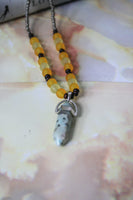 Fairuza Necklace (Dalmatian Stone)