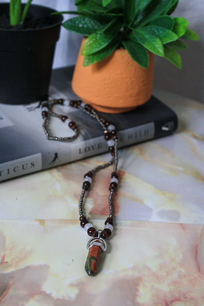 Gail Necklace (Unakite)