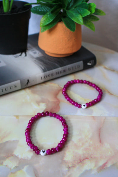 Maarika Bracelet (Purple / Black)