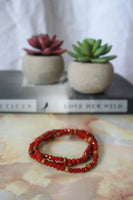 Qamar Bracelet (Deep Red)