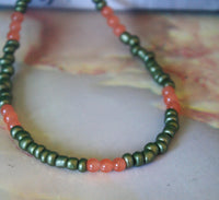 Pallavi Necklace (Orange)