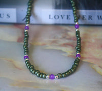 Sabrina Necklace (Purple)