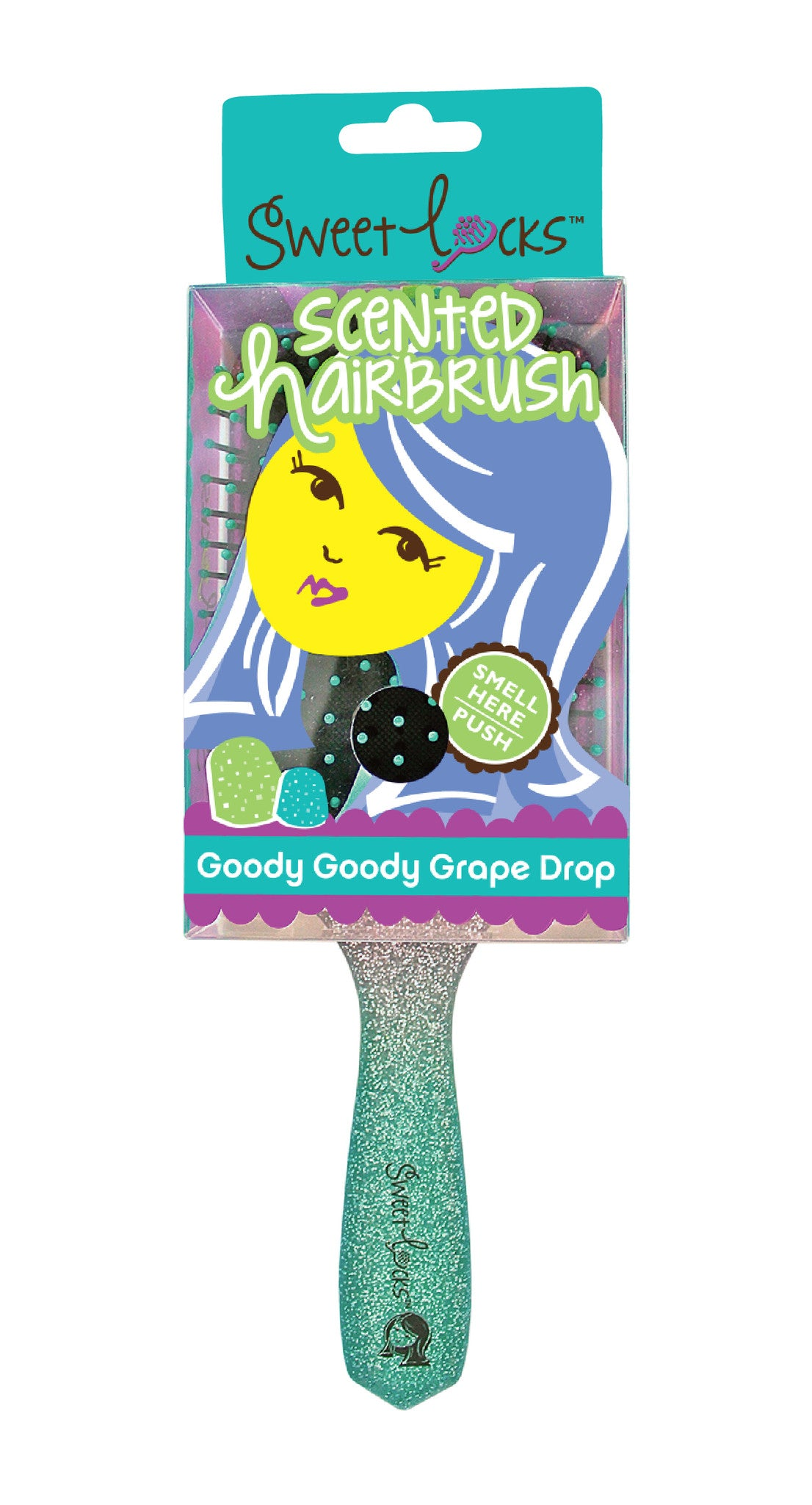 Goody Goody Grape Drop Scented Hairbrush