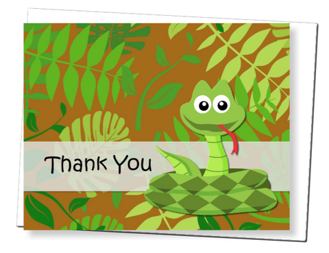 Snake PDF Thank You Card