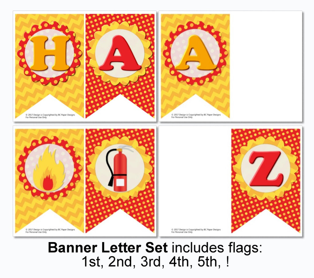 image about Printable Birthday Decorations identify Fireplace Truck Birthday Decorations - Prompt Down load Printable Documents - Banner, Centerpiece, Cupcake Toppers, Thank On your own Playing cards