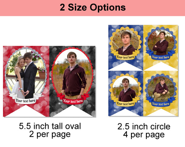 Graduation Party Photo Banner - 8 Color Options - Digital Download - Printable Online Editable