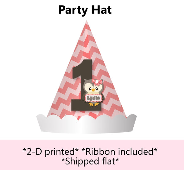 Coral Owl Baby Shower or Birthday Party Decorations