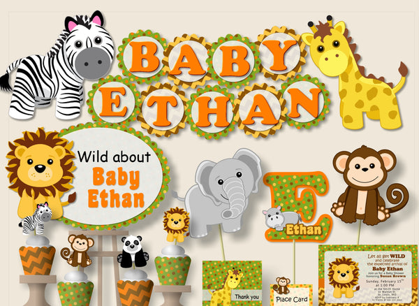 Jungle Safari Baby Shower Decorations