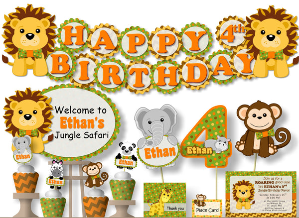 Jungle Safari Birthday Party or Baby Shower Decorations