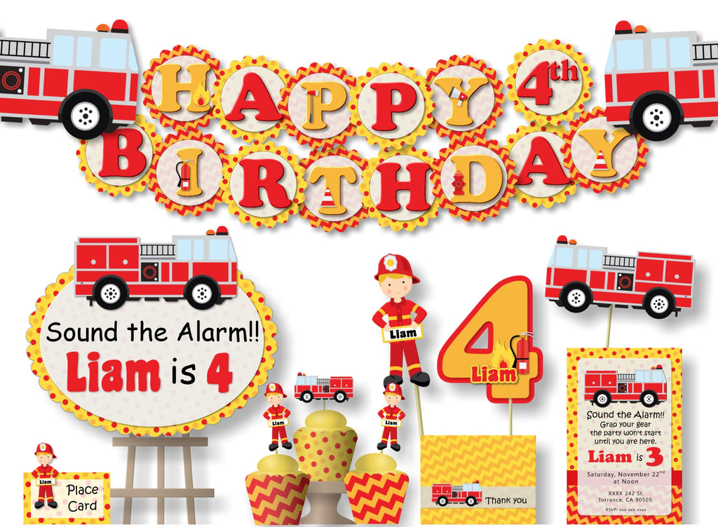 Firefighter Birthday Party Decorations
