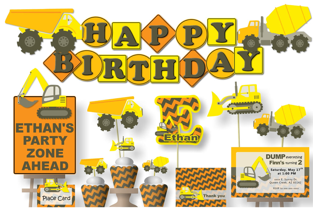 Construction Truck Birthday Party Decorations