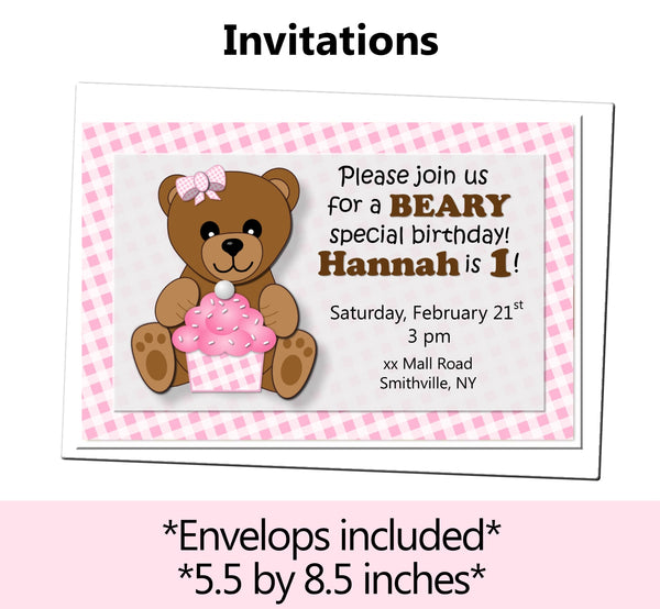 PInk Teddy Bear Baby Shower or Birthday Party Decorations for Girl