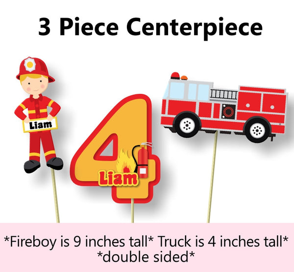 Firefighter Birthday Party Centerpiece