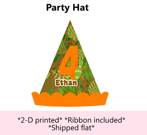 Reptile Birthday Party Hat