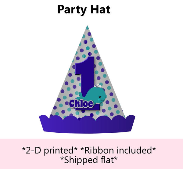 Whale Baby Shower & Birthday Party Hat