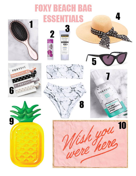 FOXY BEACH BAG ESSENTIALS