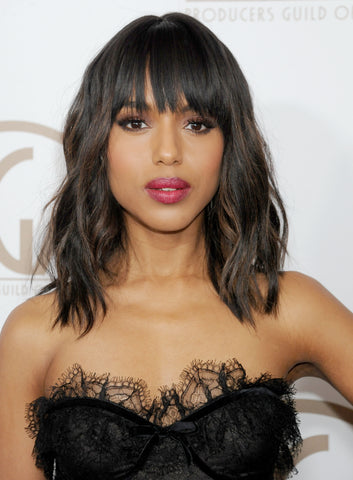 Kerry Washington Shoulder Length Curls | FoxyBae