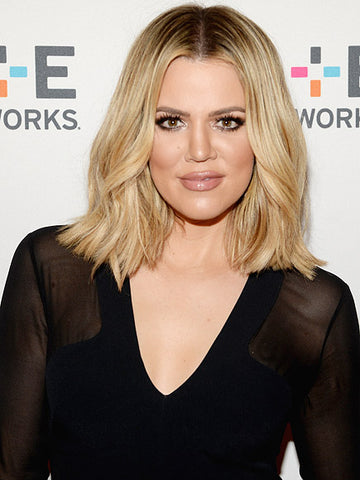 Khloe Kardashian Shoulder Length Hairstyle | FoxyBae