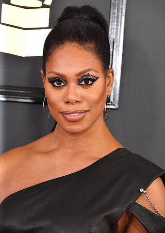 Laverne Cox Sleek Ponytail Grammy Awards | FoxyBae