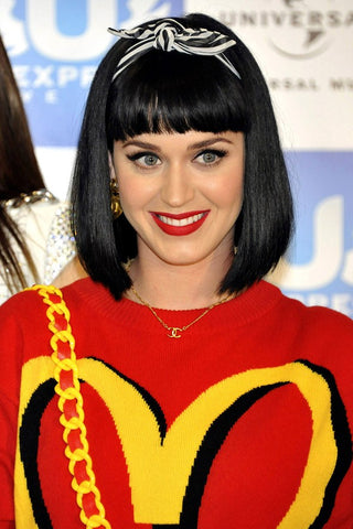 Katy Perry's Black Bob with Bangs | FoxyBae