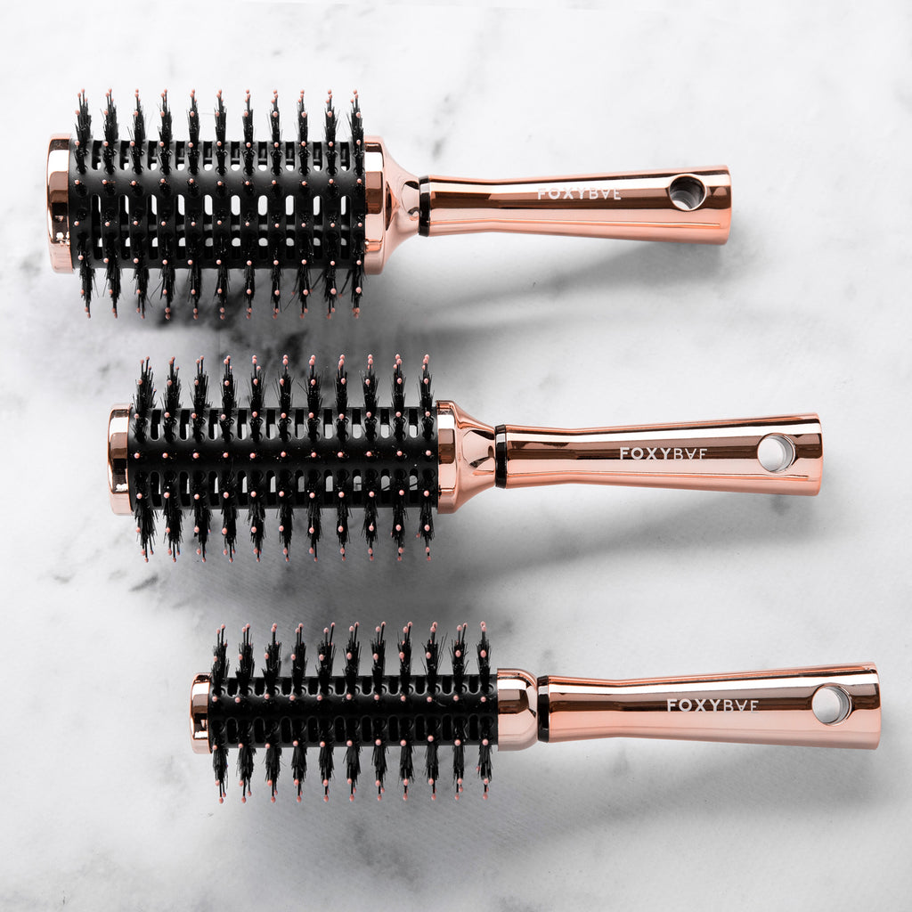 ROSE GOLD ROUND BRUSH SET