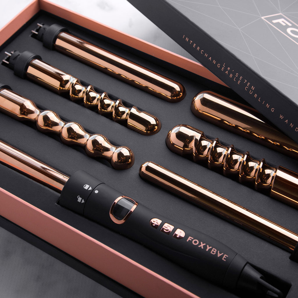 7 In 1 Curling Wand Rose Gold Foxybae Com